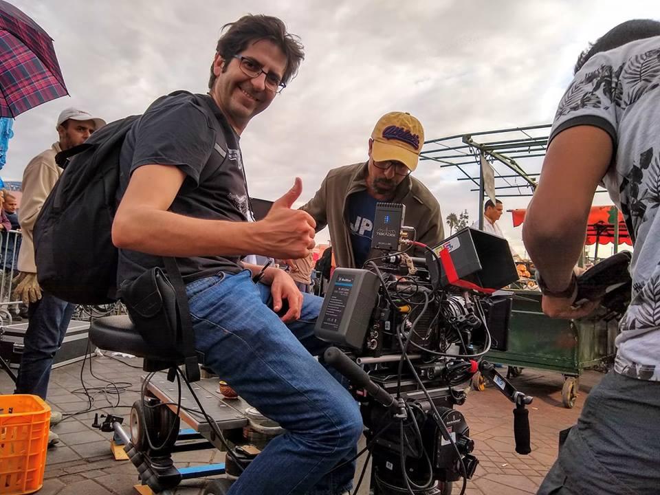 Fulgencio Martínez durante un rodaje en Marrakech.