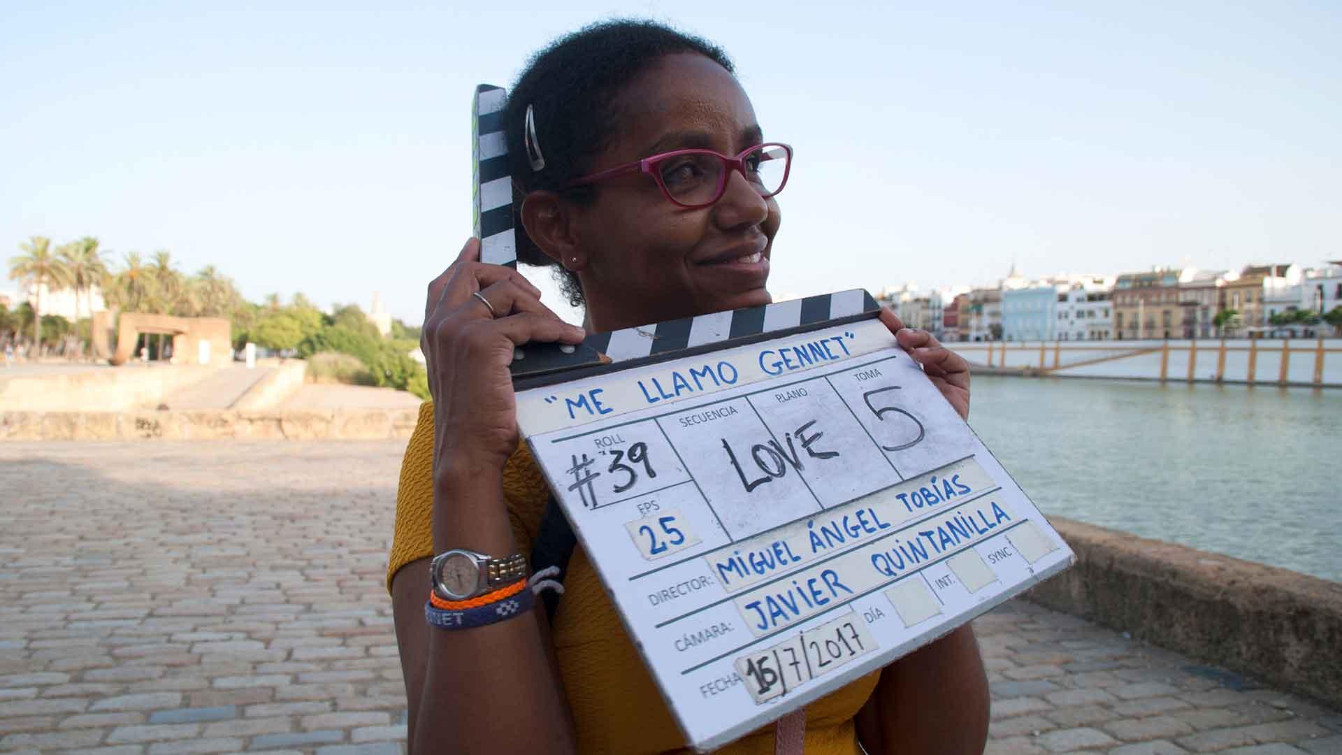 Gennet Corcuera protagoniza su biopic, rodado en parte en Sevilla.