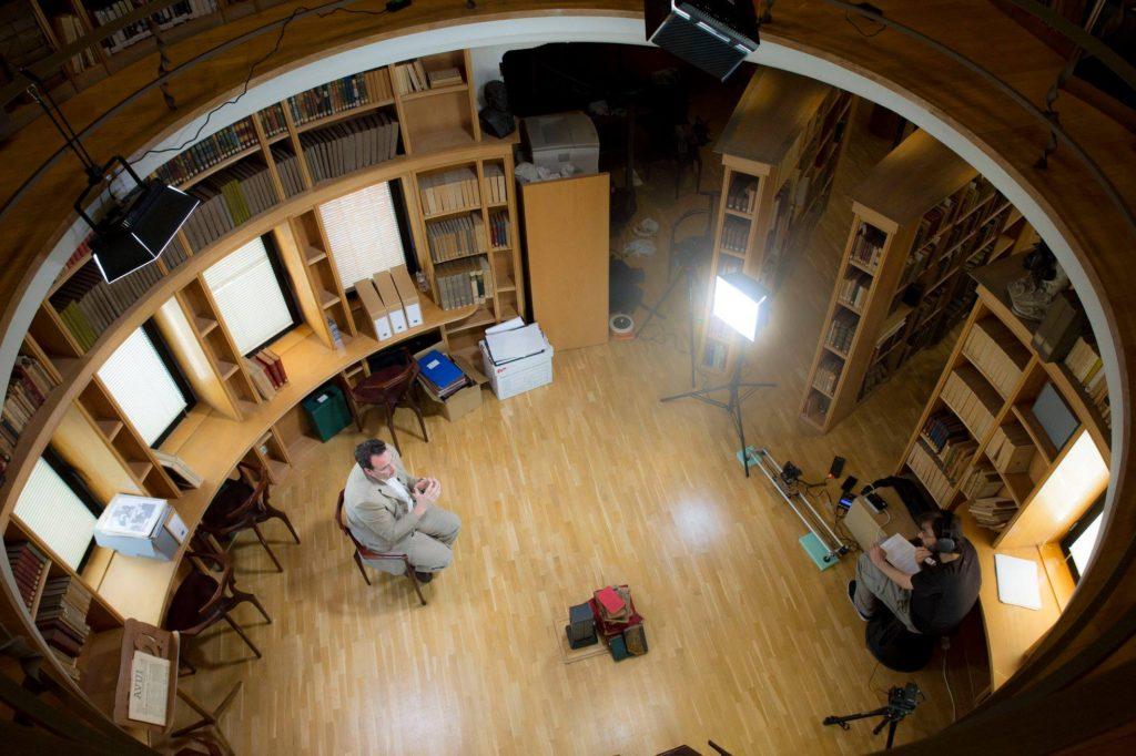 Ricardo Barby durante el rodaje de 'Descubriendo a Otto'.