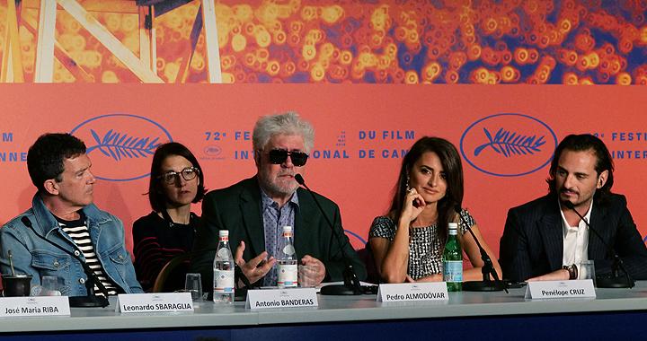 Pedro Almodóvar en Cannes.