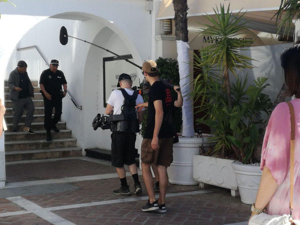 Un momento del rodaje de la película 'Superagente Makey'. Foto: Marinas Mediterránea.