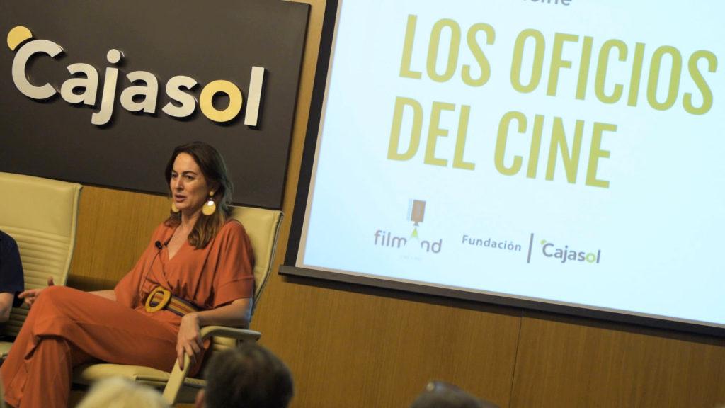 Cuca Escribano en Los oficios del cine.