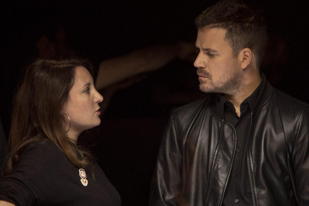 Dani Martín durante un momento del rodaje.