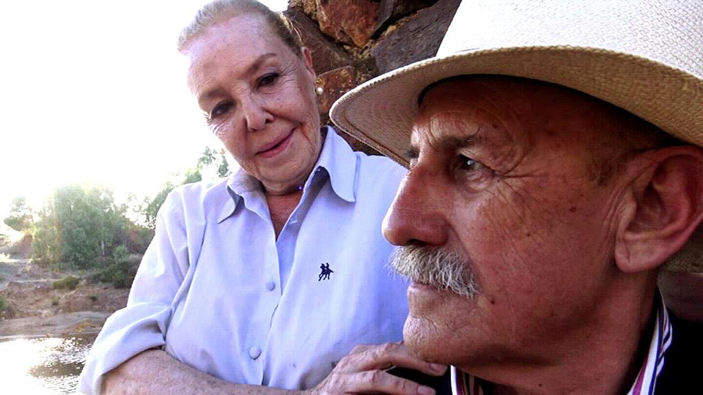 María José Alfonso durante el rodaje del documental María José Alfonso 'La niña ya no está de luto'