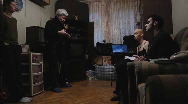 Mario de la Torre en un momento del rodaje de 'Primavera rosa en el Kremlin'