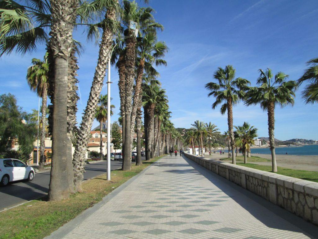 Paseo Marítimo Pablo Ruiz Picasso en Málaga.