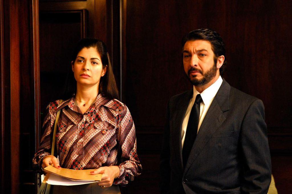 Soledad Villamil y Ricardo Darín en El secreto de tus ojos