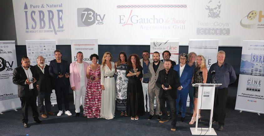 Festival de cine de Marbella. Foto de familia en la clausura