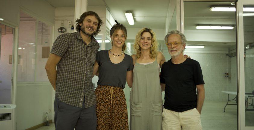 Fernando Colomo con Salva Reina, Manuela Velasco y Maggie Civantos