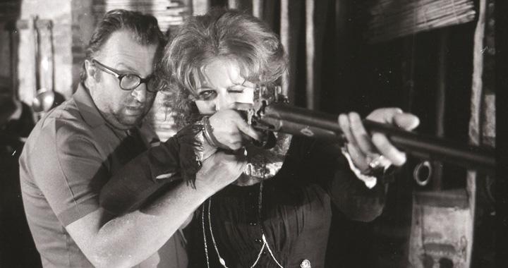 Claudia Cardinale y Sergio Leone