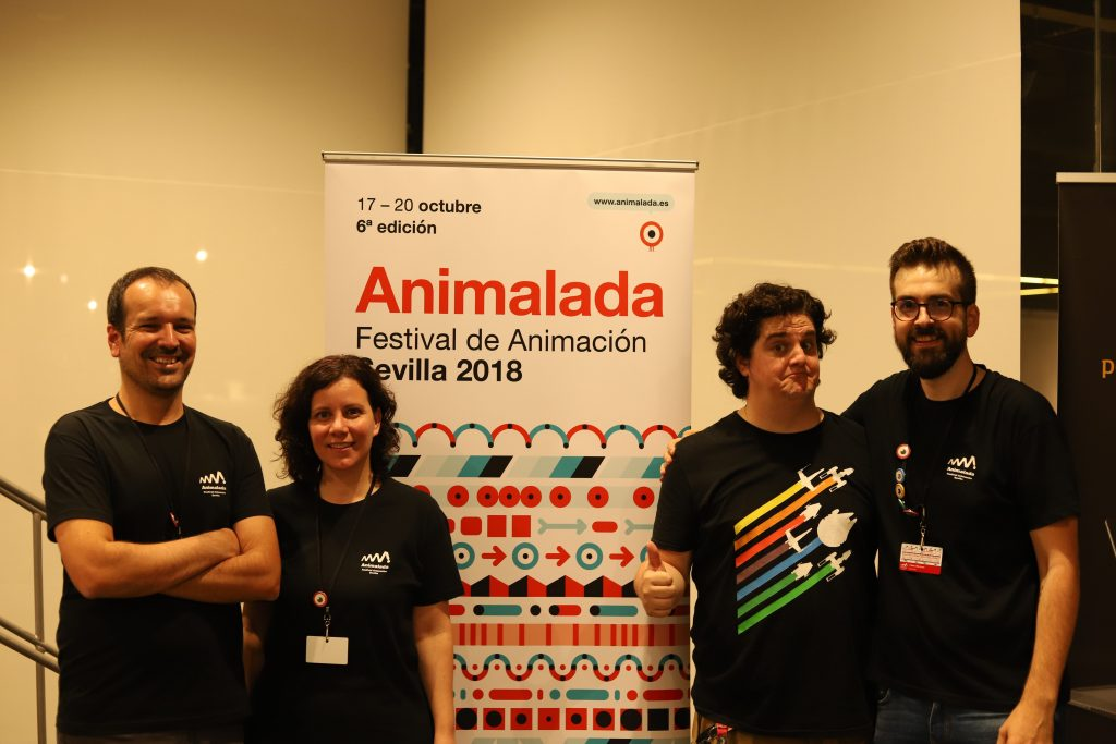 Cristina JIménez junto al resto de organizadores del festival Animalada.