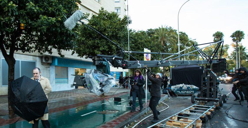 Un momento del rodaje de 'El inconveniente'. Foto: Julio Vergne.