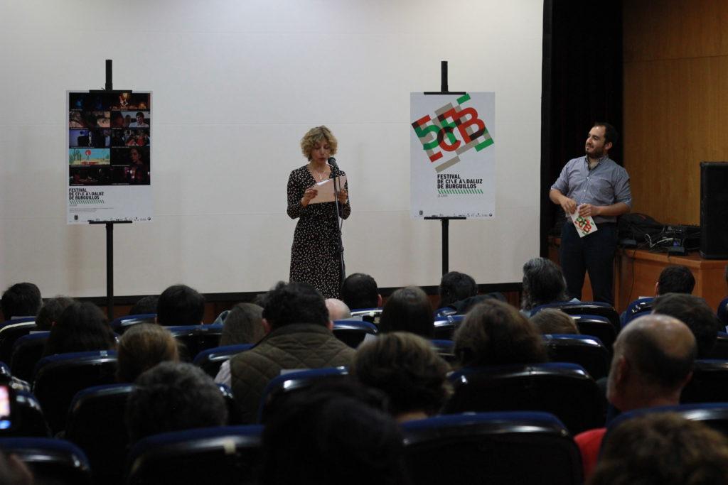 Un momento de la entrega de premios del Festival de Cine Andaluz de Burguillos.