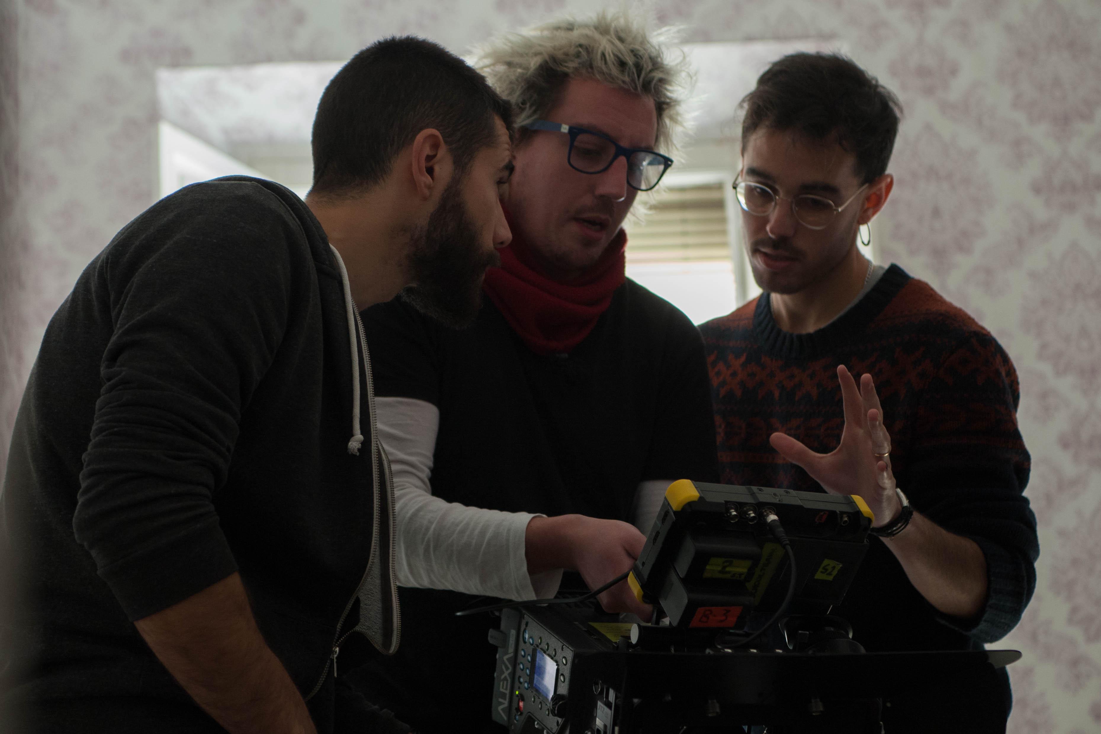 Un momento de la grabación del trailer del corto 'Los ojos de Érebo', de Los ojos de Erebo, un corto de Javier Barbero.