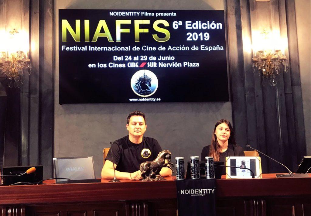 Joaquín Ortega y Esther Cordero Silva durante la presentación del NIAFFS.
